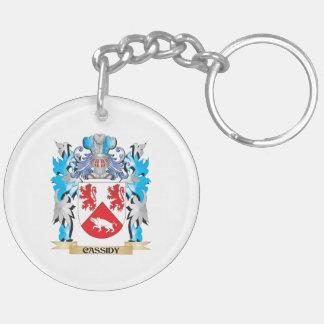Escudo de armas de Cassidy - escudo de la familia Llavero Redondo Acrílico A Doble Cara