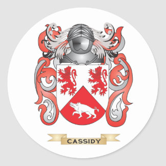 Escudo de armas de Cassidy (escudo de la familia) Pegatinas Redondas