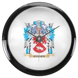 Escudo de armas de Cassidy - escudo de la familia Relojes Acuario