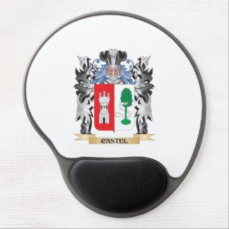 Escudo de armas de Castel - escudo de la familia Alfombrilla De Raton Con Gel