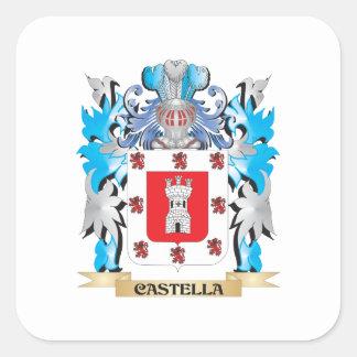 Escudo de armas de Castella - escudo de la familia Calcomania Cuadradas Personalizada