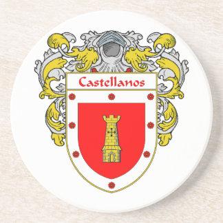 Escudo de armas de Castellanos/escudo de la famili Posavasos Personalizados