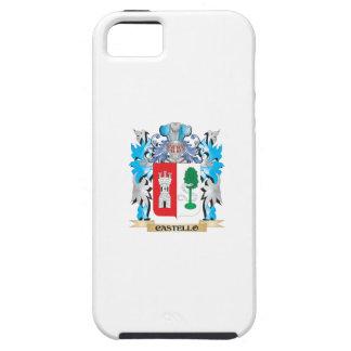 Escudo de armas de Castello - escudo de la familia iPhone 5 Case-Mate Coberturas