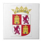 Escudo de armas de Castilla y León (España) Azulejo Cuadrado Pequeño