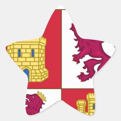 Escudo de armas de Castilla y León (España) Pegatinas Forma De Estrella