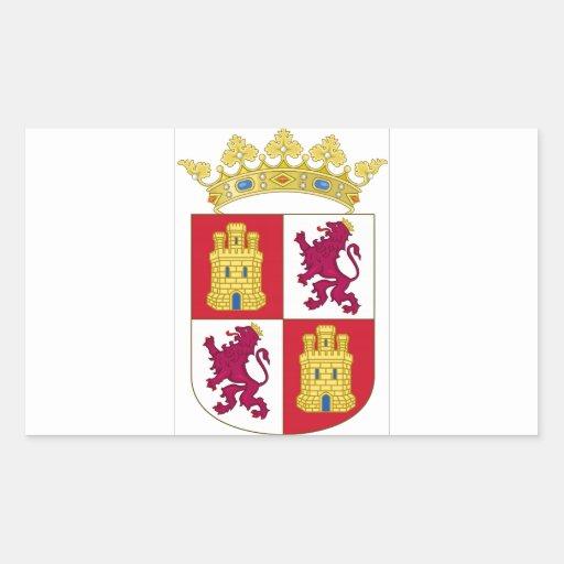 Escudo de armas de Castilla y León (España) Rectangular Altavoces