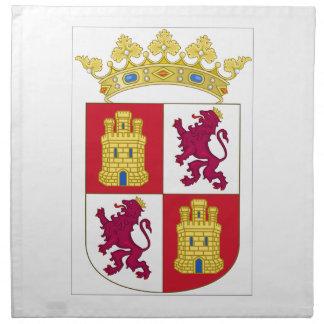 Escudo de armas de Castilla y León (España) Servilletas