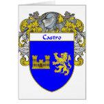 Escudo de armas de Castro (cubierto) Felicitación