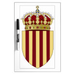 Escudo de armas de Cataluña (España) Tablero Blanco