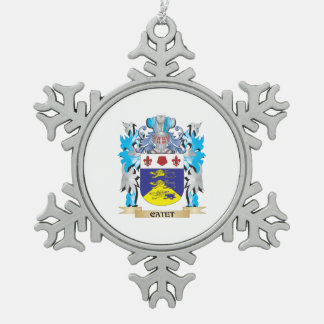 Escudo de armas de Catet - escudo de la familia Adorno De Peltre En Forma De Copo De Nieve