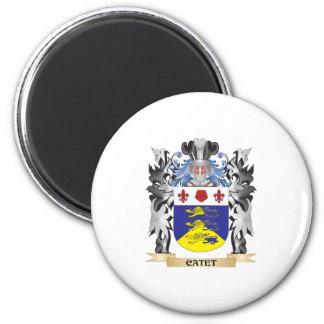 Escudo de armas de Catet - escudo de la familia Imán Redondo 5 Cm