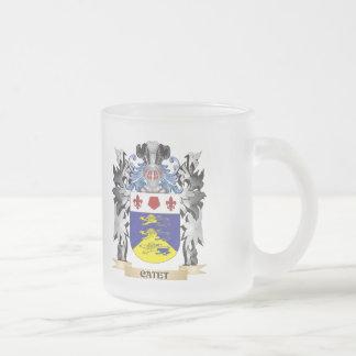 Escudo de armas de Catet - escudo de la familia Taza Cristal Mate