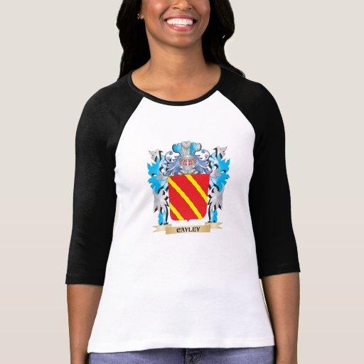 Escudo de armas de Cayley - escudo de la familia Camisetas