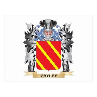 Escudo de armas de Cayley - escudo de la familia Tarjeta Postal