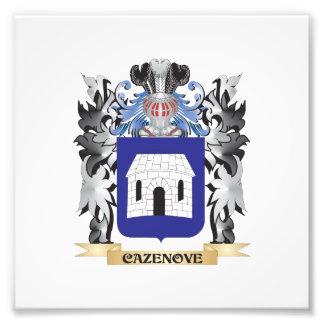 Escudo de armas de Cazenove - escudo de la familia Fotografía
