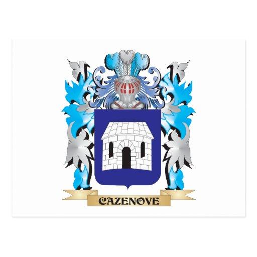 Escudo de armas de Cazenove - escudo de la familia Tarjetas Postales