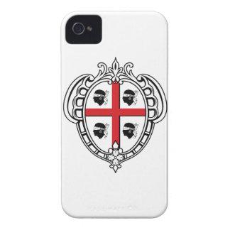 Escudo de armas de Cerdeña (Italia) Carcasa Para iPhone 4