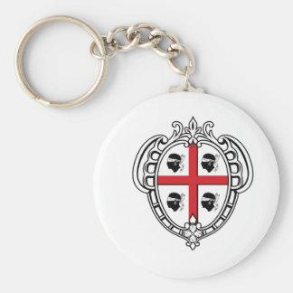 Escudo de armas de Cerdeña (Italia) Llavero