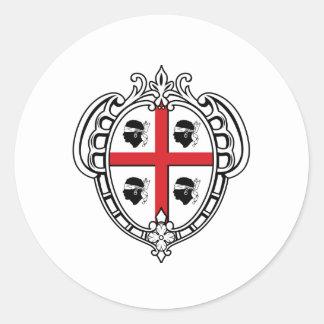 Escudo de armas de Cerdeña Italia Pegatina Redonda