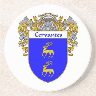 Escudo de armas de Cervantes/escudo de la familia Posavasos Para Bebidas