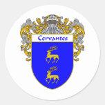 Escudo de armas de Cervantes Pegatina Redonda
