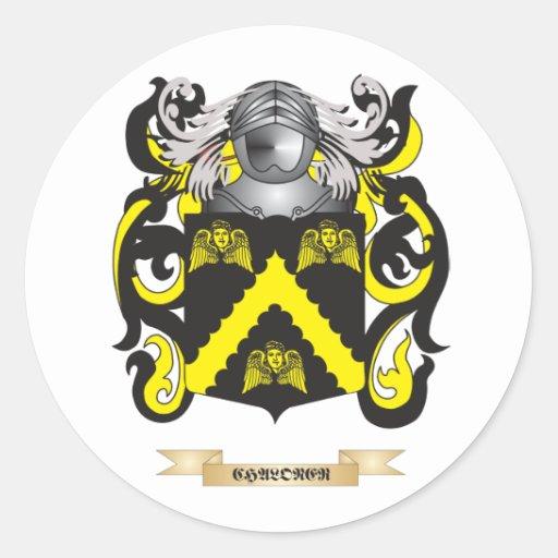 Escudo de armas de Chaloner Etiquetas