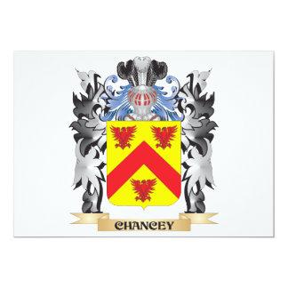 """Escudo de armas de Chancey - escudo de la familia Invitación 5"""" X 7"""""""