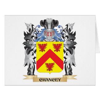 Escudo de armas de Chancey - escudo de la familia Tarjeta De Felicitación Grande