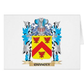 Escudo de armas de Chancey - escudo de la familia Tarjeta Pequeña