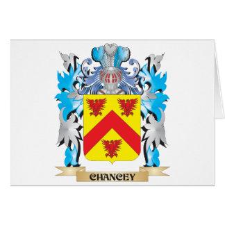 Escudo de armas de Chancey - escudo de la familia Tarjeta De Felicitación