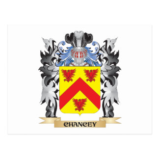 Escudo de armas de Chancey - escudo de la familia Tarjeta Postal
