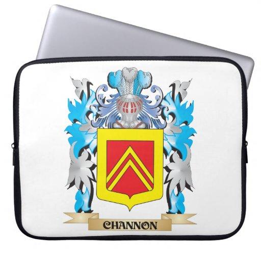 Escudo de armas de Channon- - escudo de la familia Funda Portátil