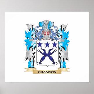 Escudo de armas de Channon - escudo de la familia Posters