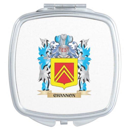 Escudo de armas de Channon- - escudo de la familia Espejos Para El Bolso