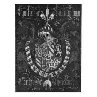 Escudo de armas de Charles de Borgoña Postales