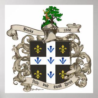 Escudo de armas de Charles F. Banks de Atlanta Impresiones
