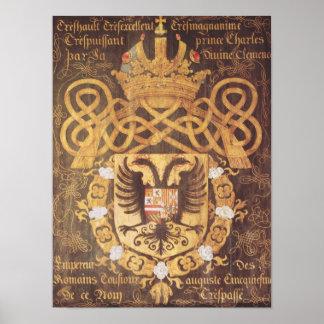 Escudo de armas de Charles V del 23ro capítulo Póster