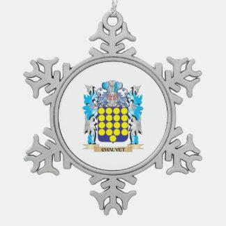 Escudo de armas de Chauvet - escudo de la familia Adorno De Peltre En Forma De Copo De Nieve