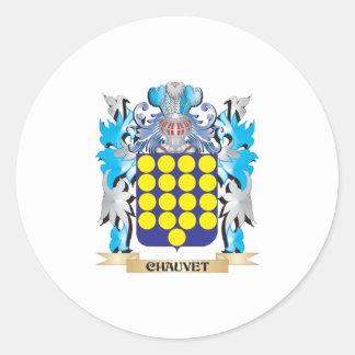 Escudo de armas de Chauvet - escudo de la familia Pegatina Redonda
