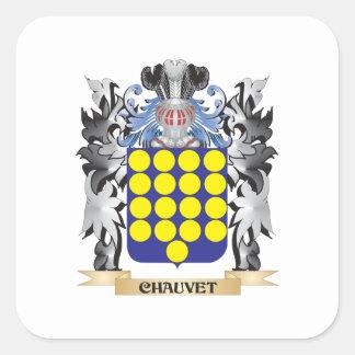 Escudo de armas de Chauvet - escudo de la familia Pegatina Cuadrada