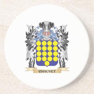 Escudo de armas de Chauvet - escudo de la familia Posavaso Para Bebida