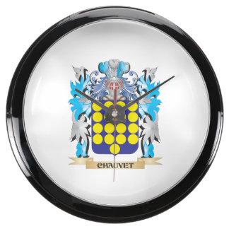 Escudo de armas de Chauvet - escudo de la familia Relojes Acuario