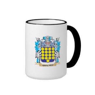 Escudo de armas de Chauvet - escudo de la familia Taza A Dos Colores