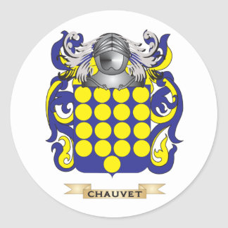Escudo de armas de Chauvet Pegatina Redonda