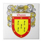 Escudo de armas de Chavez/escudo de la familia Teja Cerámica