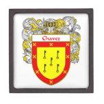 Escudo de armas de Chavez/escudo de la familia Cajas De Joyas De Calidad