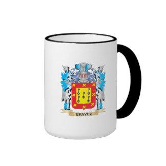 Escudo de armas de Chavez - escudo de la familia Taza A Dos Colores