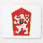 Escudo de armas de Checoslovaquia Mousepad 1960 Tapete De Ratones