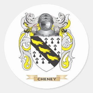 Escudo de armas de Cheney Pegatina Redonda