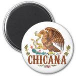 Escudo de armas de Chicana México Imanes De Nevera